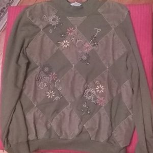 LOOK!!! Alfred Dunner Sweater With Embroidery